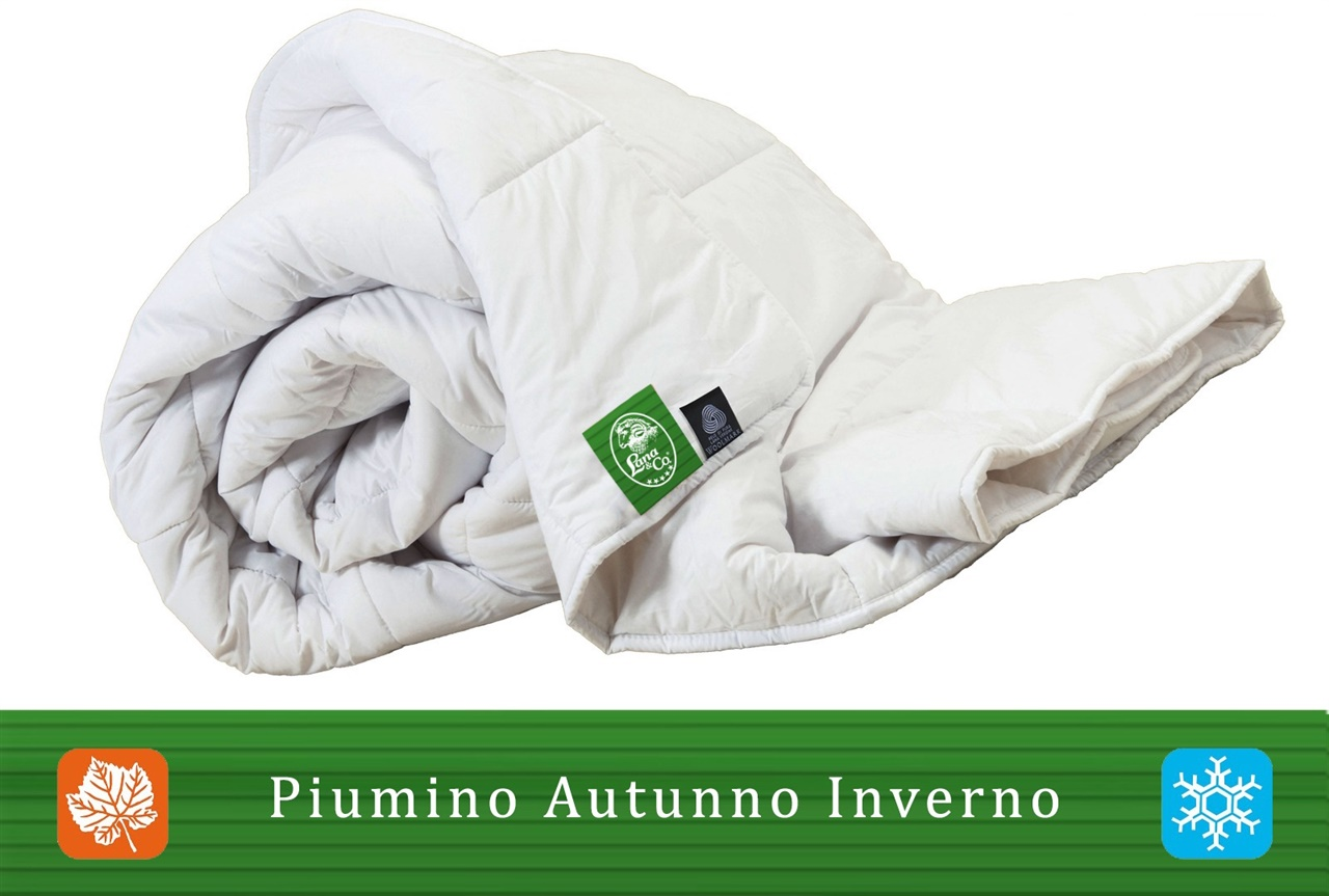 Winter Duvet Cotton and Pure Wool Merino. Machine washable at 40 °C. Double bed size.