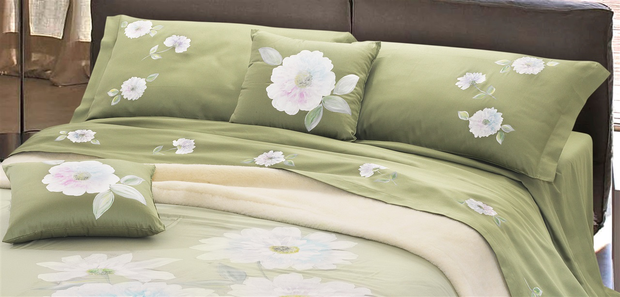 Full Bed Sheet in Satin 100% Cotton