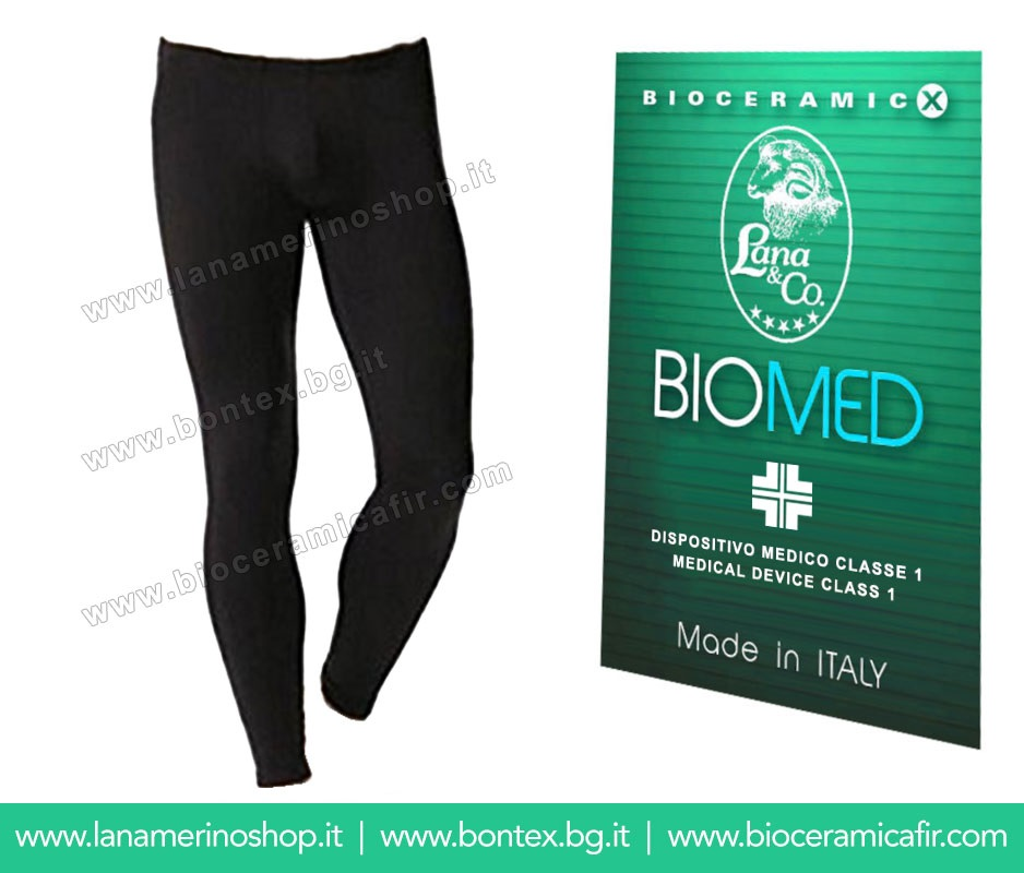 Bioceramica Fir Leggings Uomo - Dispositivo Medico CE