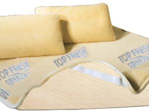 Mattress Top Cover Fresh Pure Merino Wool and Cotton. Single Bed Size